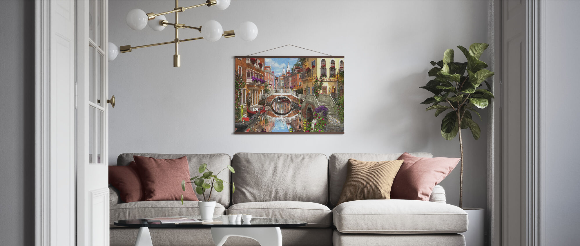 Venetian Waterway - Poster - Living Room