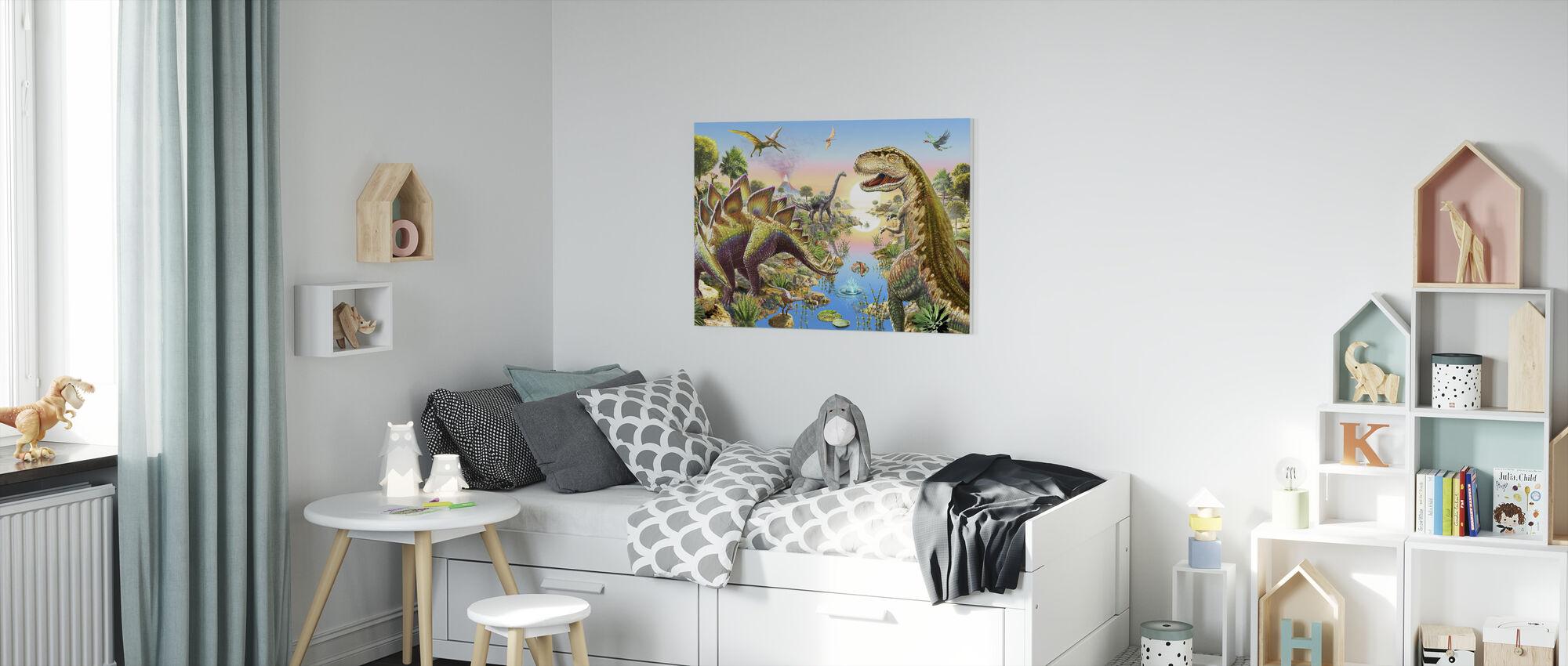 Jurassic River - Canvas print - Kids Room