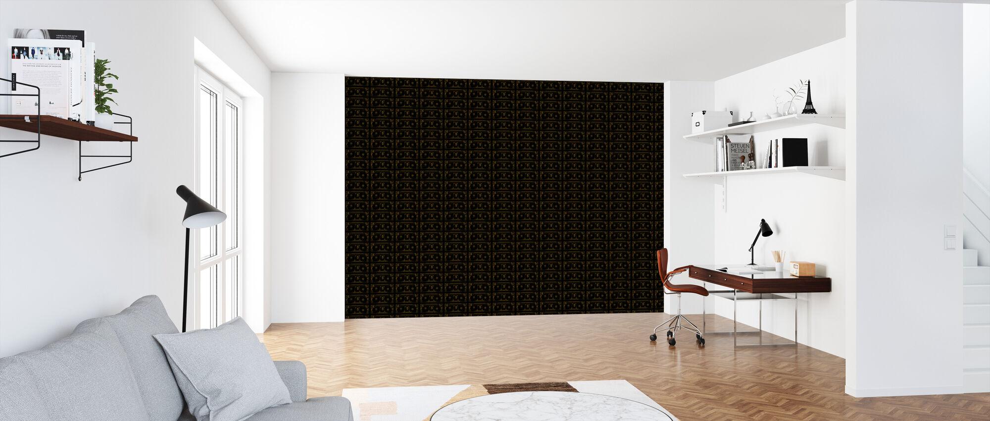 Black Dollar Pattern - Wallpaper - Office