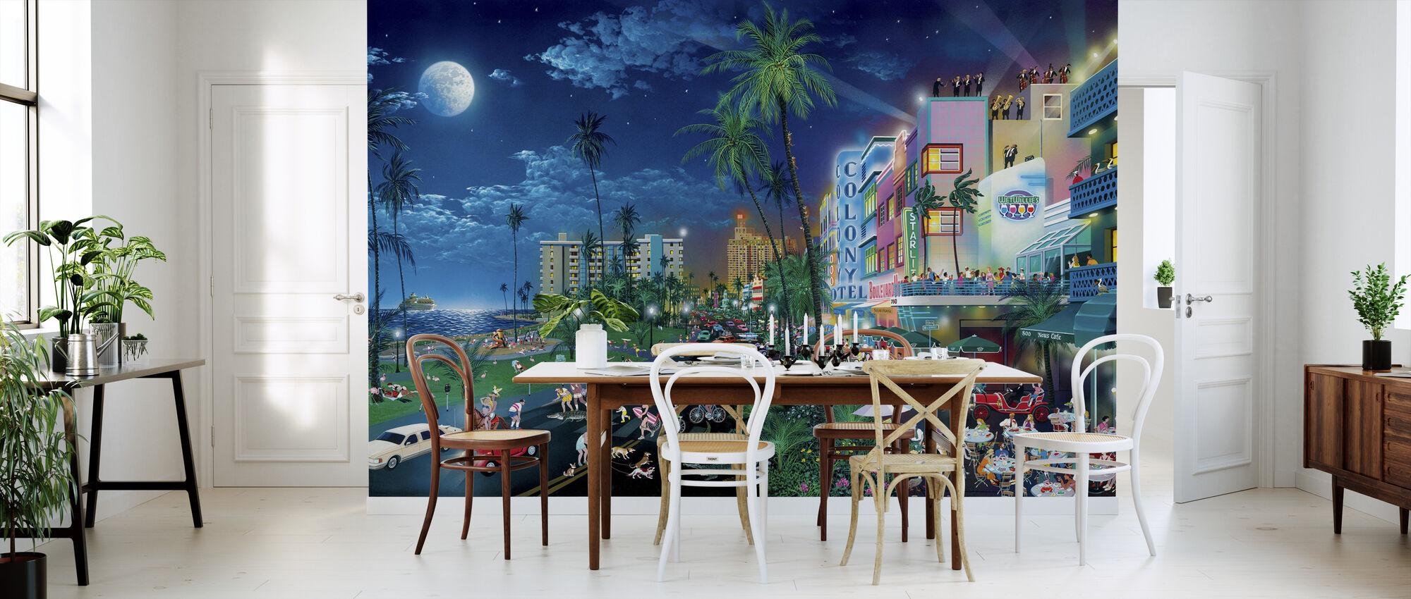 Miami Stranden - Tapet - Kjøkken