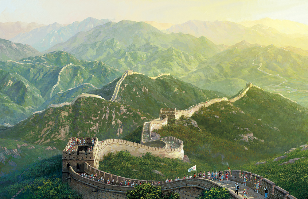 The Great Wall of China Fototapeter & Tapeter 100 x 100 cm