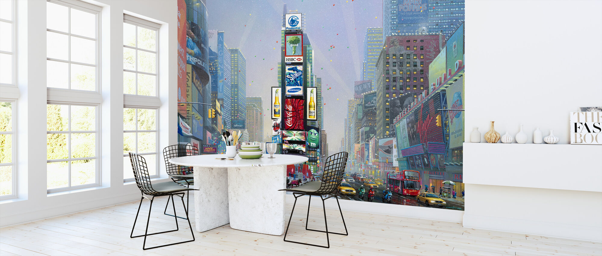 New York-Times Square Winter - Wallpaper - Kitchen