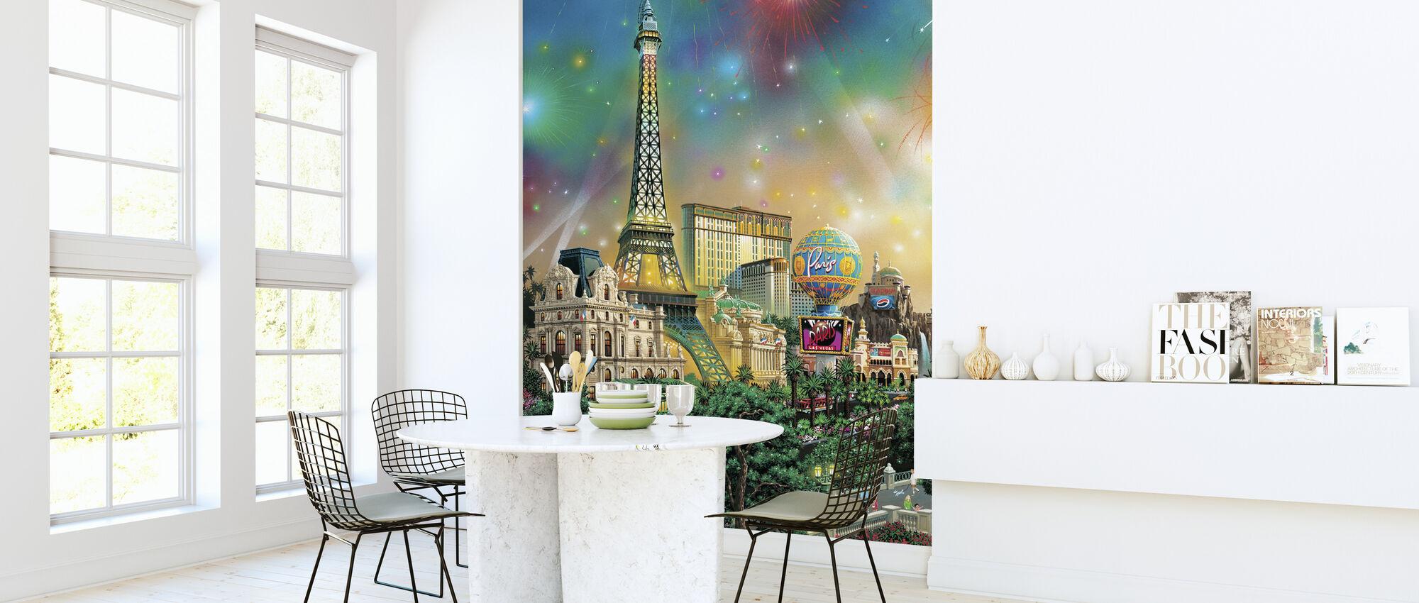 Paris - Las Vegas - Wallpaper - Kitchen