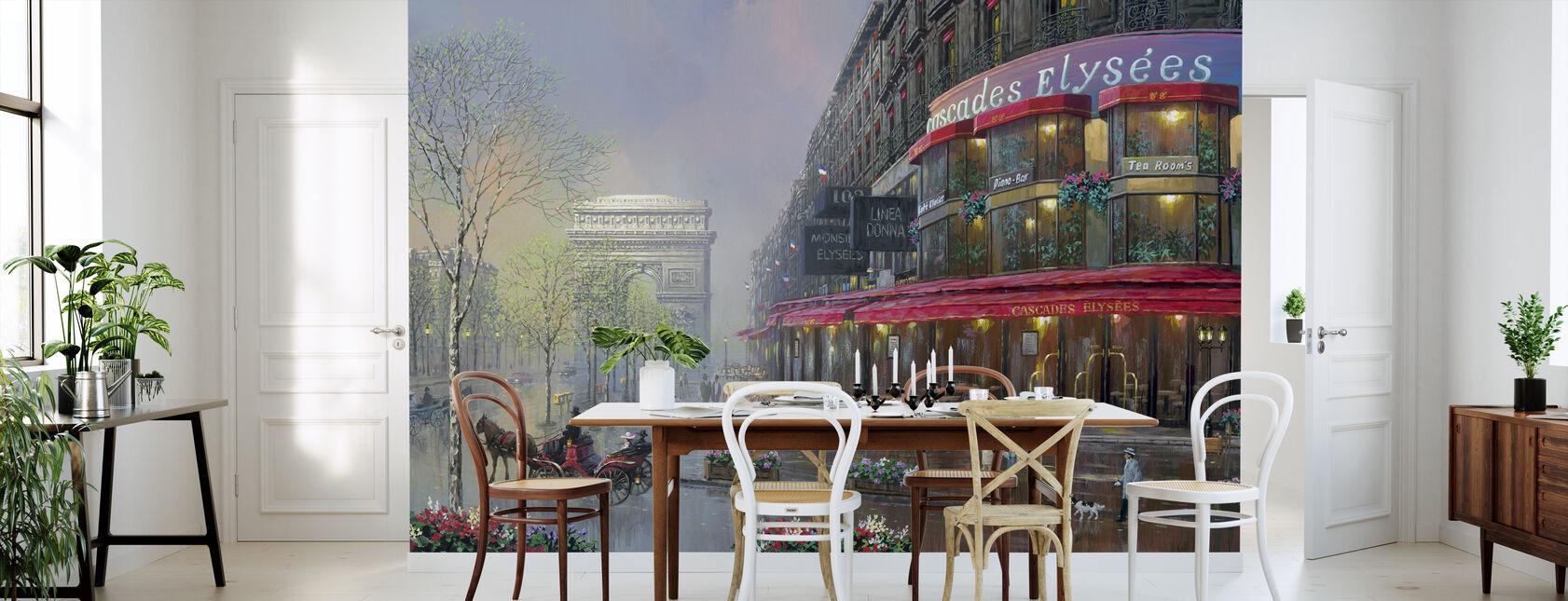 París - Cascades Elysees - Papel pintado - Cocina