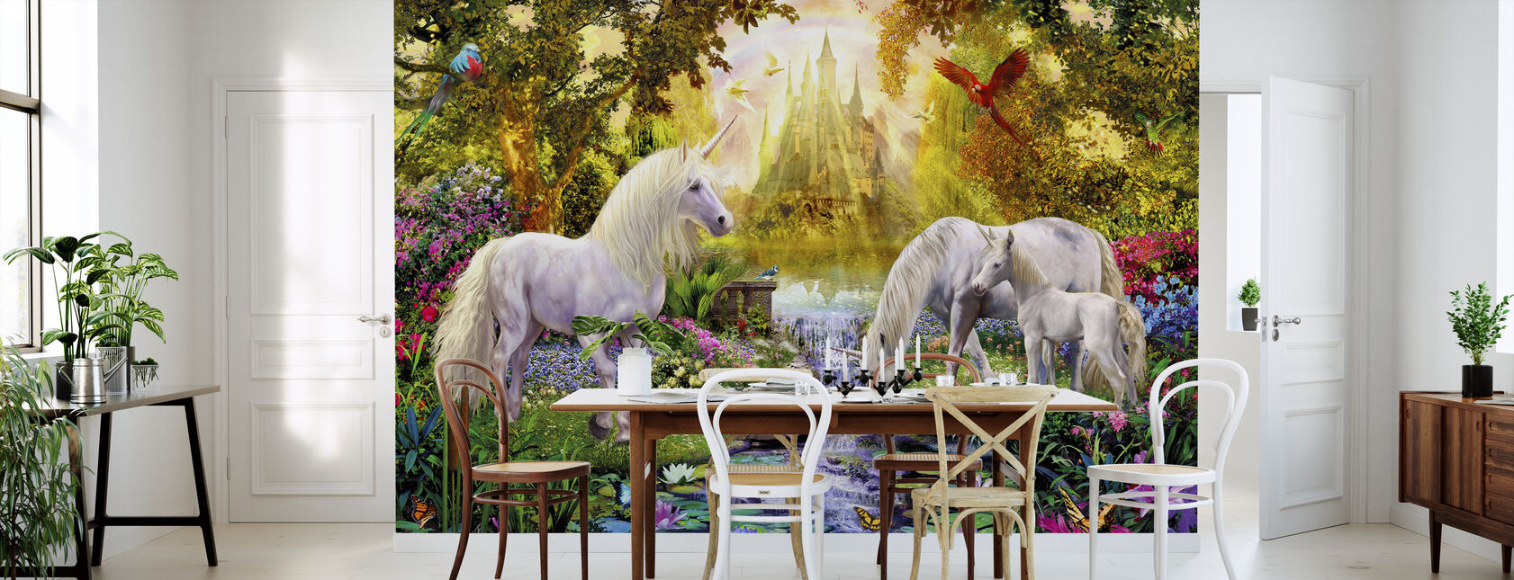 The Castle Unicorn Garden - Wallpaper - Kitchen