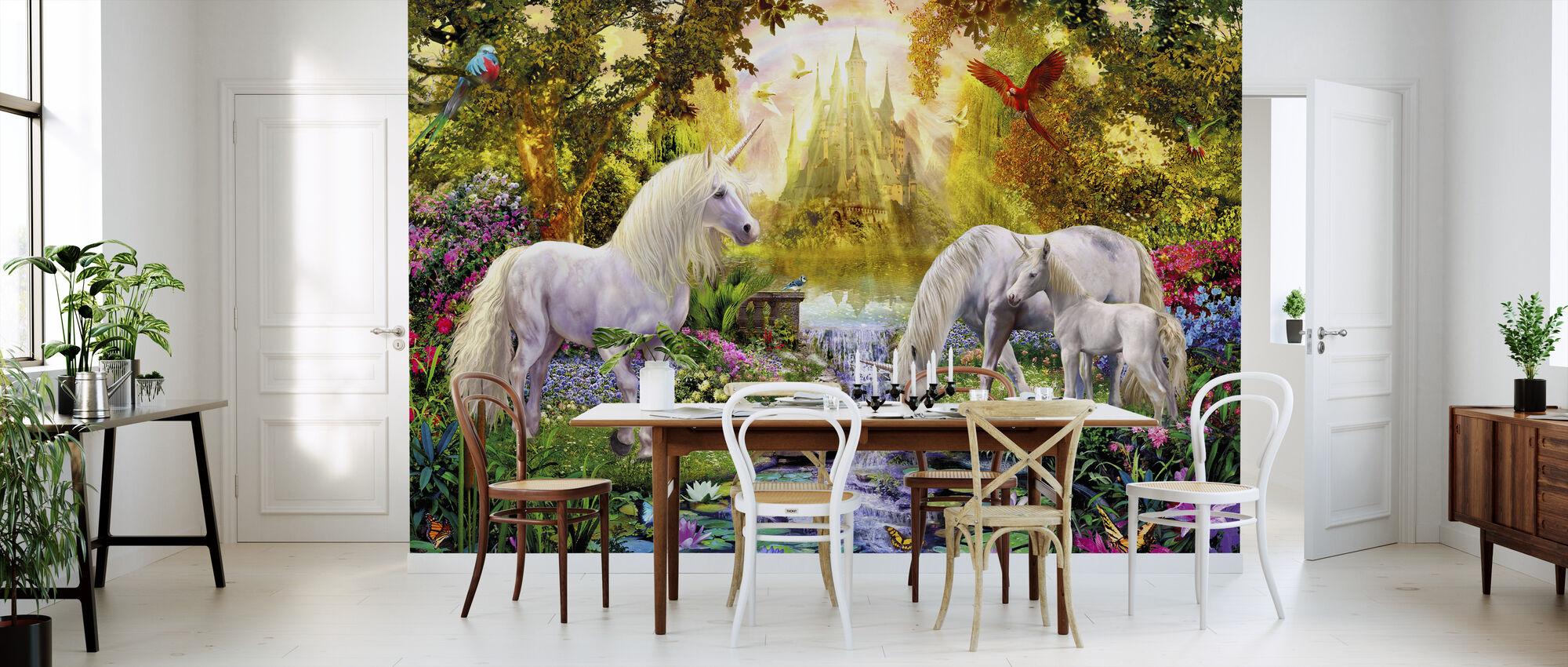 The Castle Unicorn Garden - Wallpaper - Kitchen
