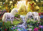 Wall Mural - The Castle Unicorn Garden