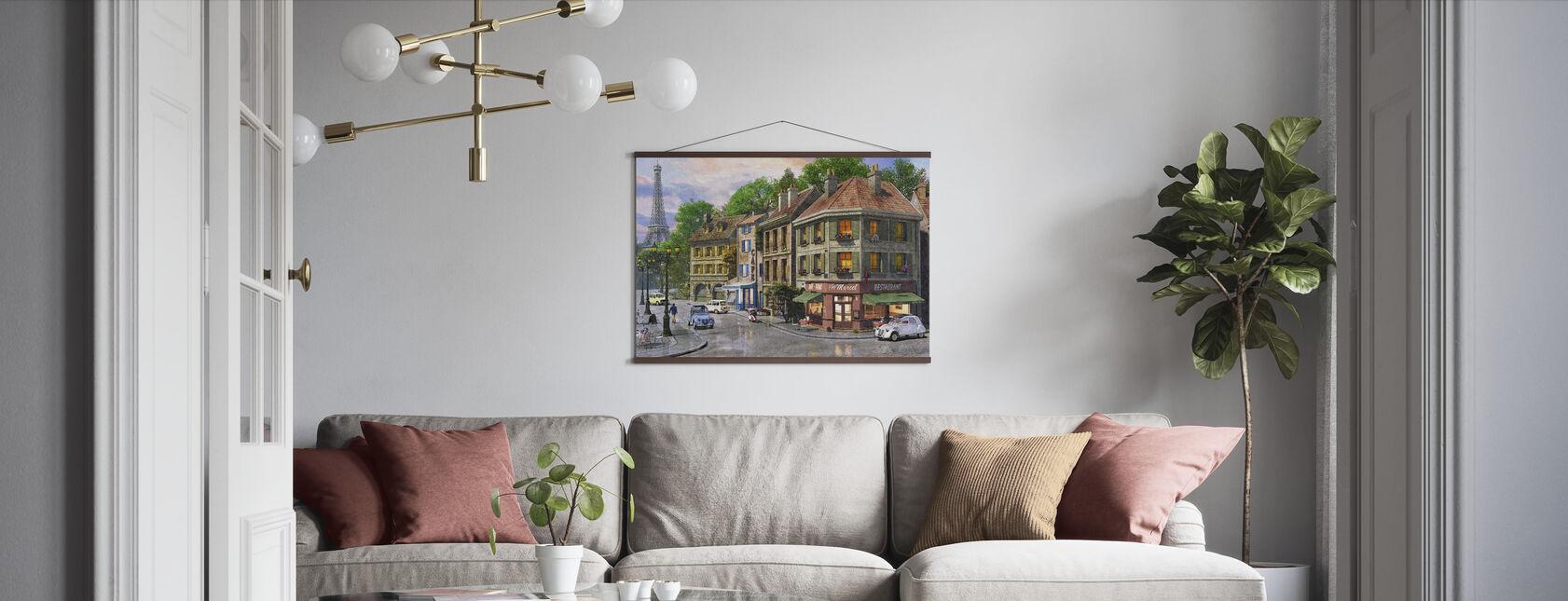 Paris gator - Poster - Vardagsrum
