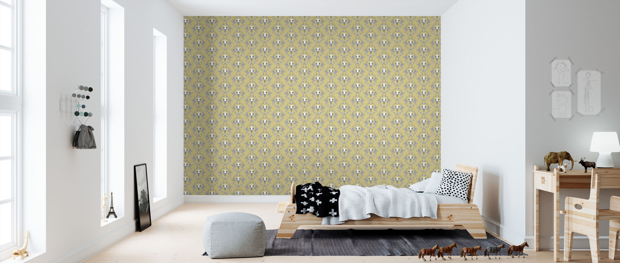 Spring - Yellow - Wallpaper - Kids Room
