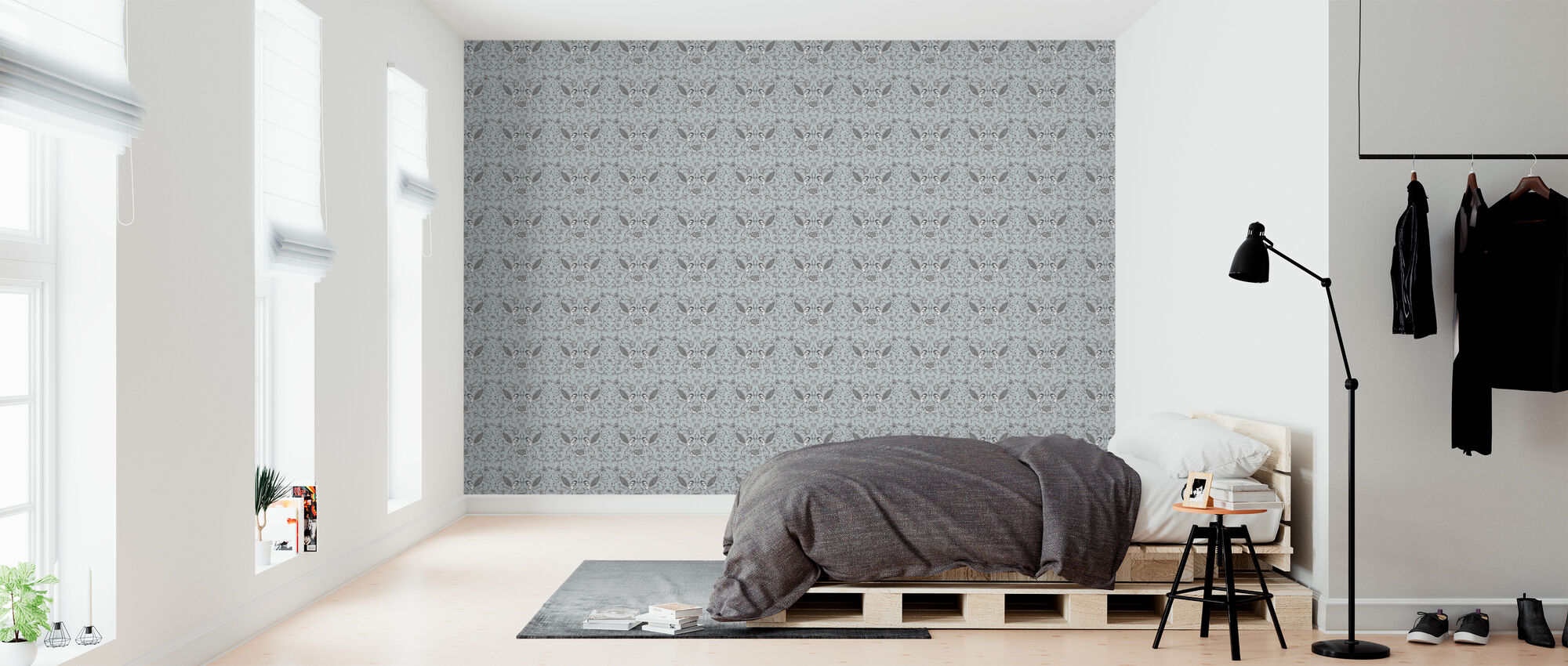 Birds - Light Blue - Wallpaper - Bedroom