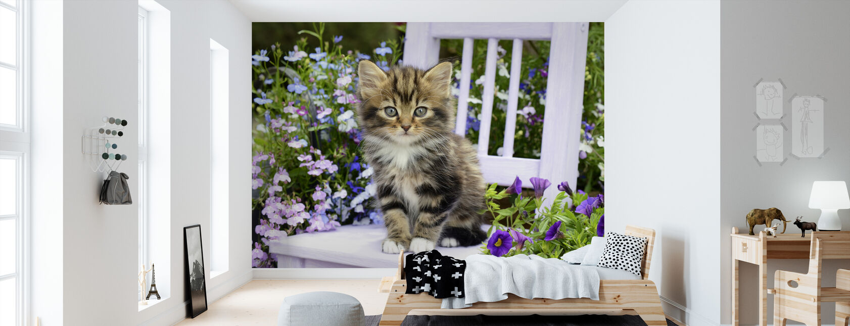 Outdoor Kitten - Behang - Kinderkamer