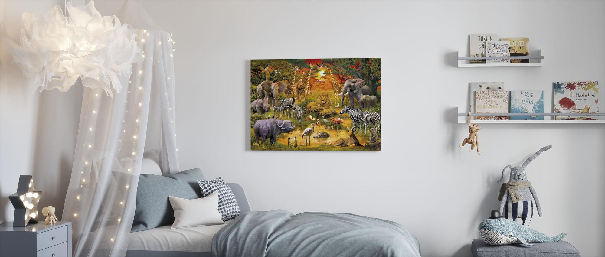 Afrikaanse harmonie - Canvas print - Kinderkamer