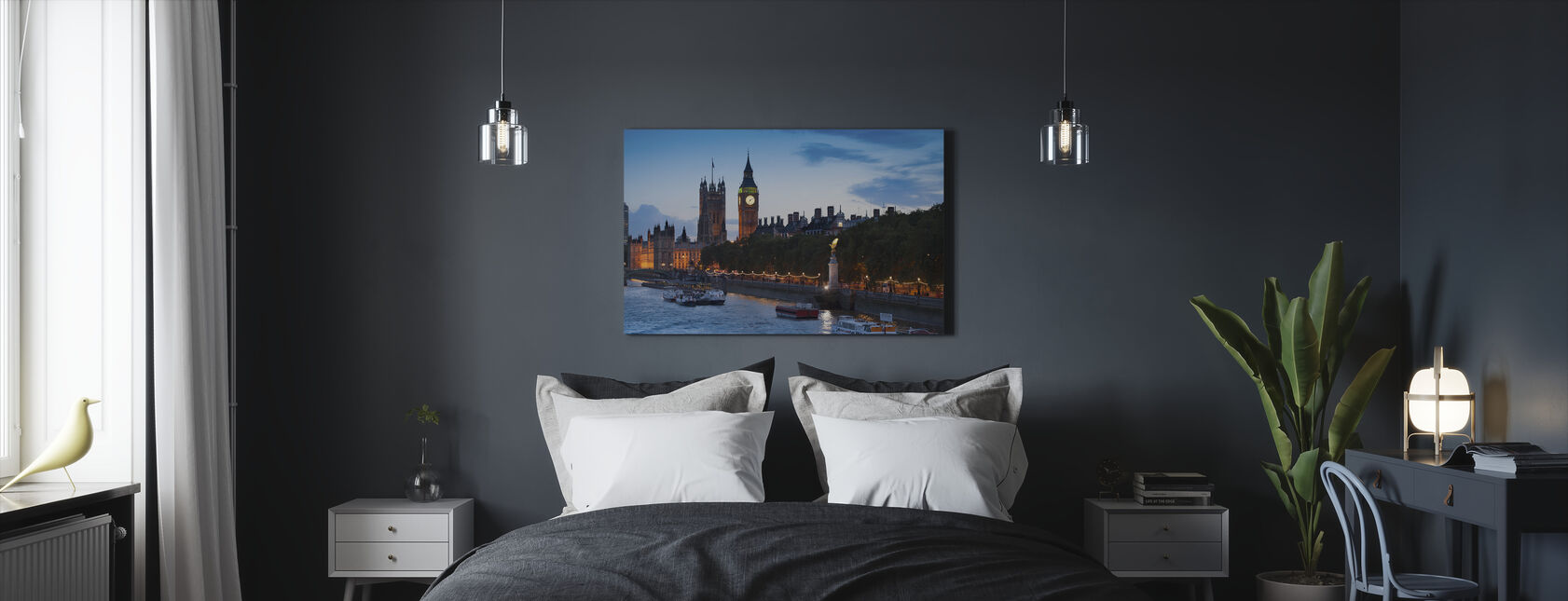 The Houses of Parliament - London - Canvas print - Bedroom