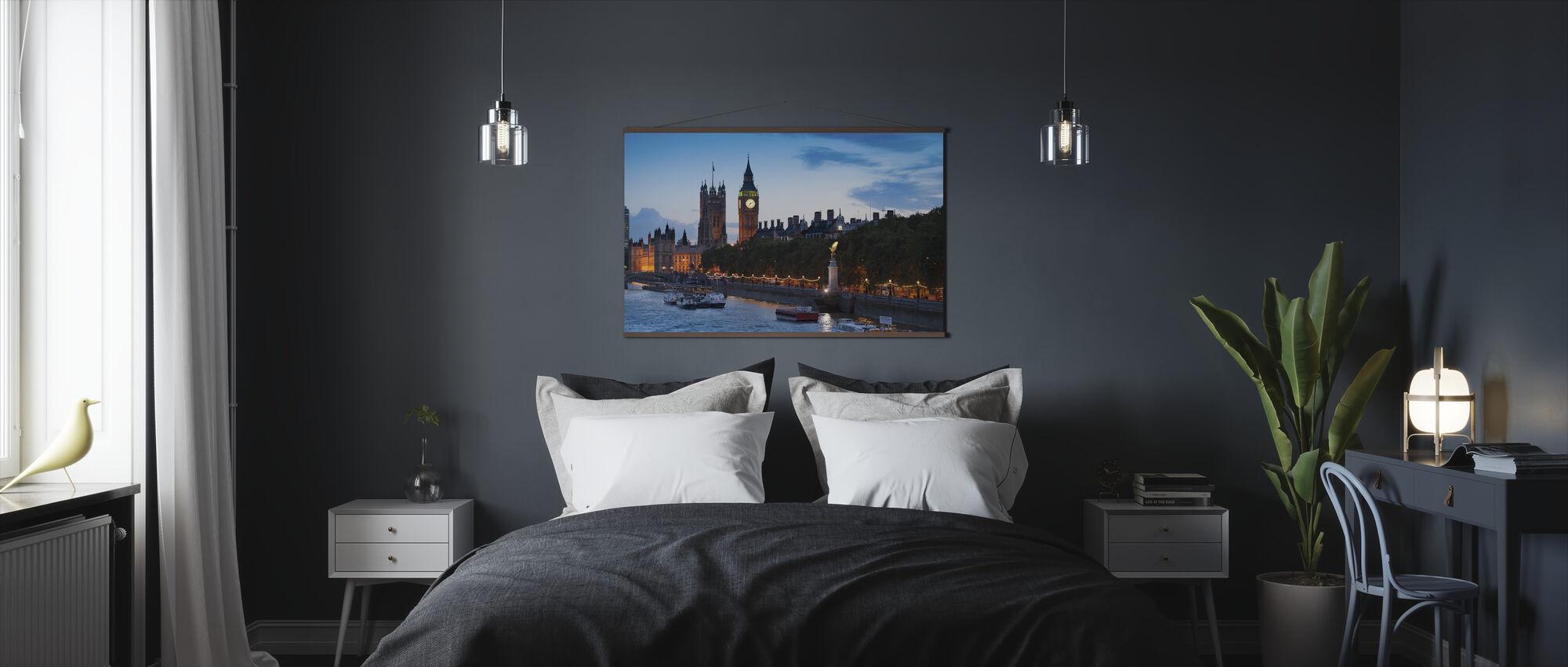 De huizen van het parlement - Londen - Poster - Slaapkamer