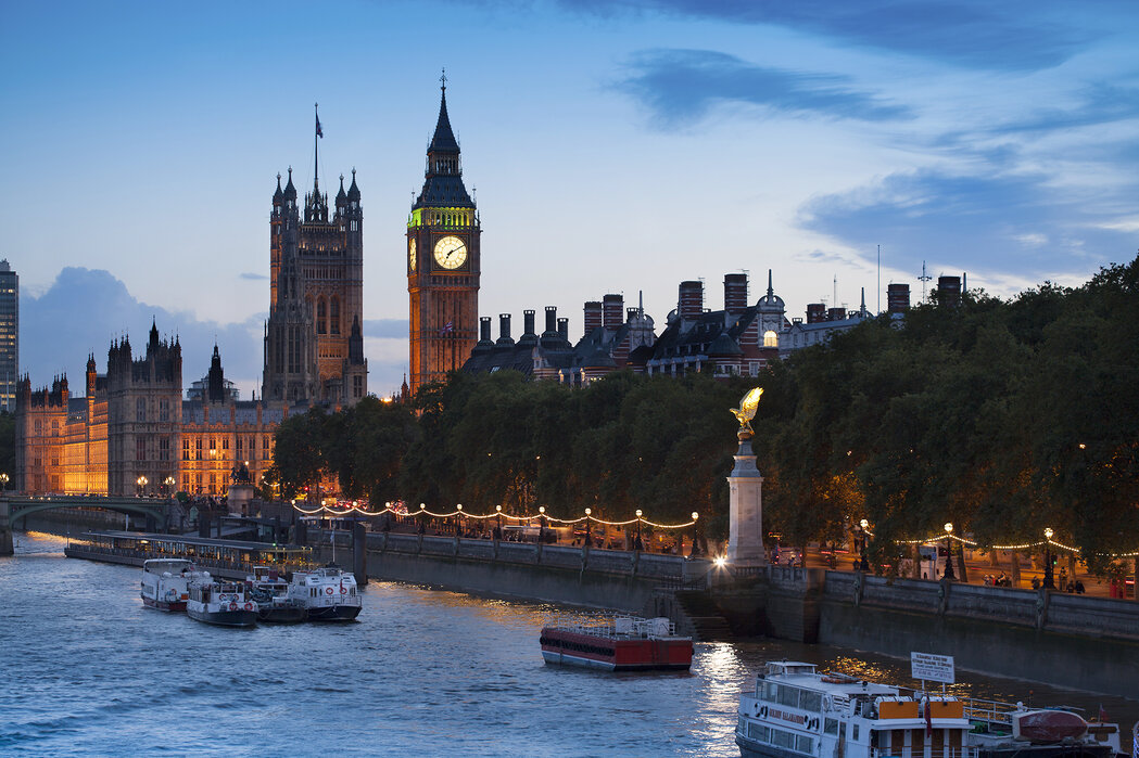 The Houses Of Parliament London Designer Canvas Print