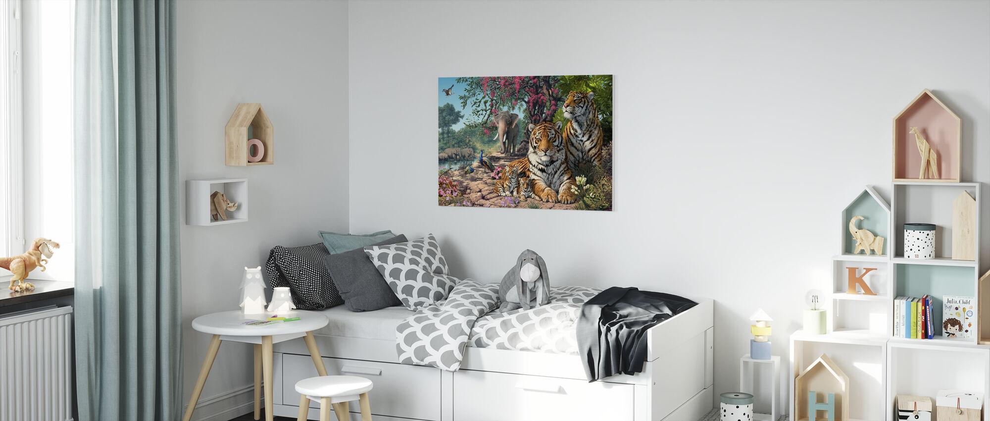 Tijgerheiligdom - Canvas print - Kinderkamer