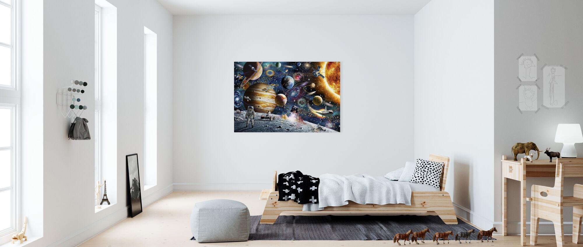 Space Odyssey - Canvas print - Kids Room