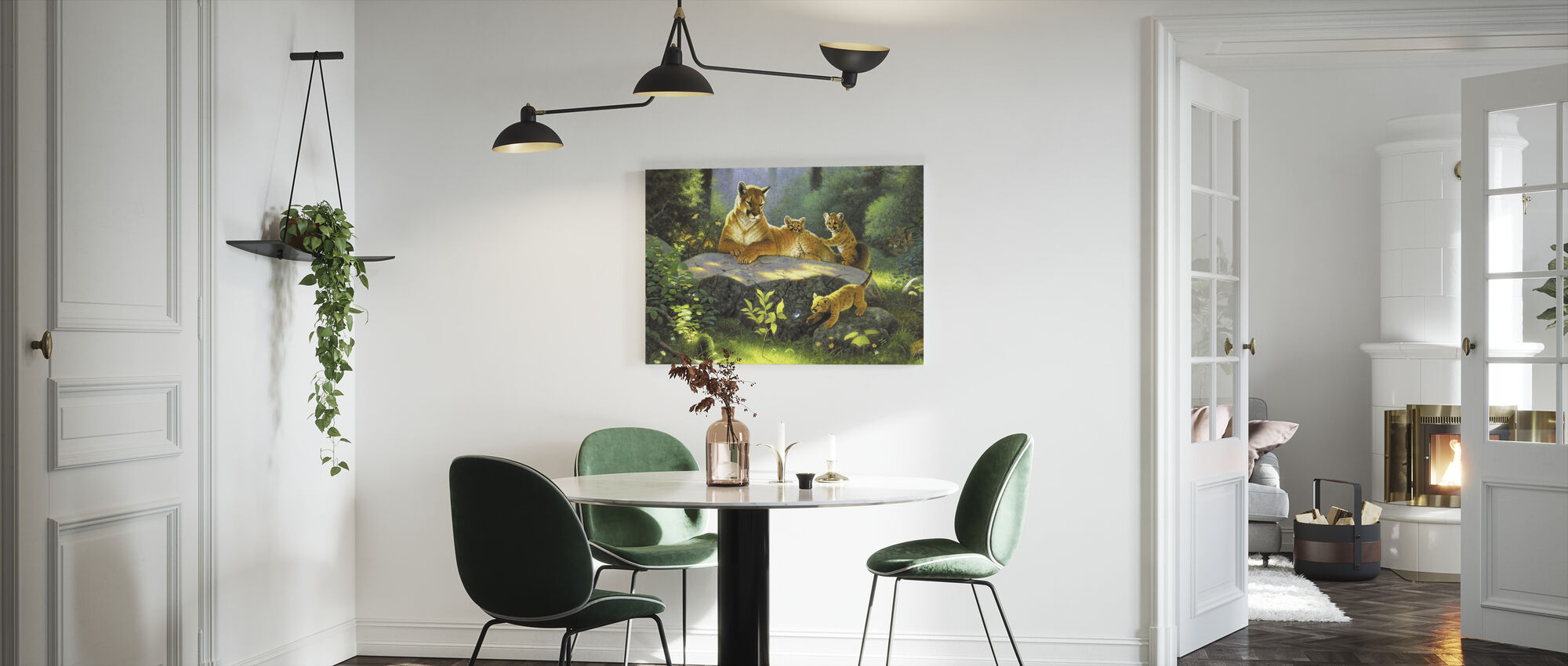 Puma & Welpen - Canvas print - Keuken
