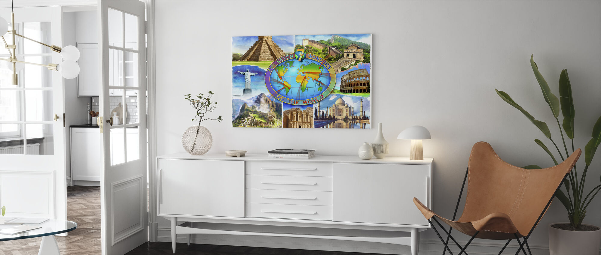 Seven Wonders of the World - Canvas print - Living Room