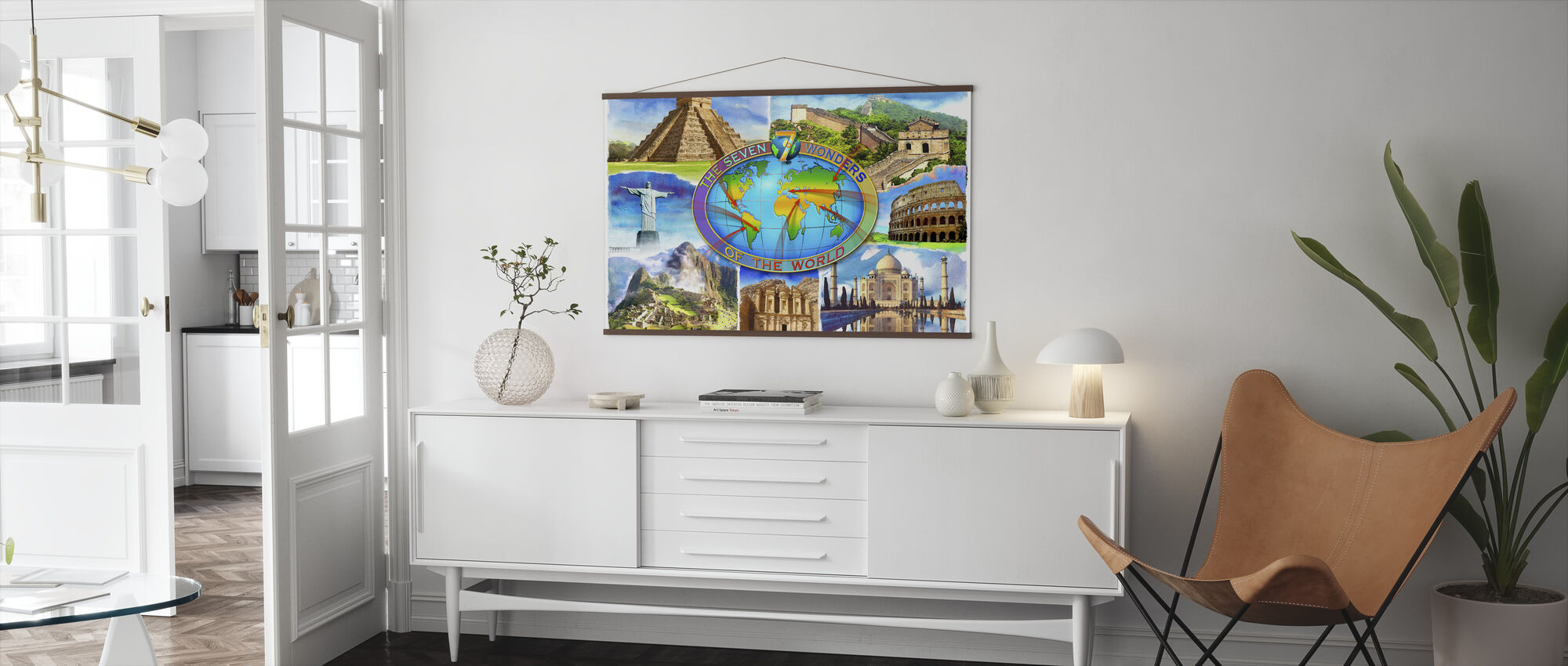Seven Wonders of the World - Poster - Living Room