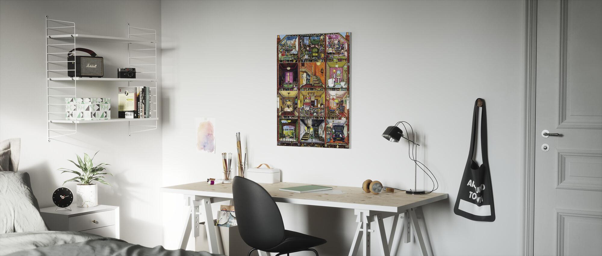 Ons huis - Canvas print - Kinderkamer