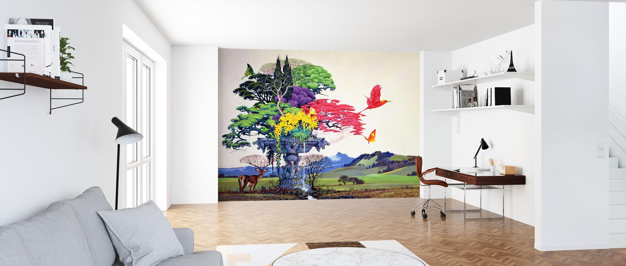 Regenboog Boom - Behang - Kantoor