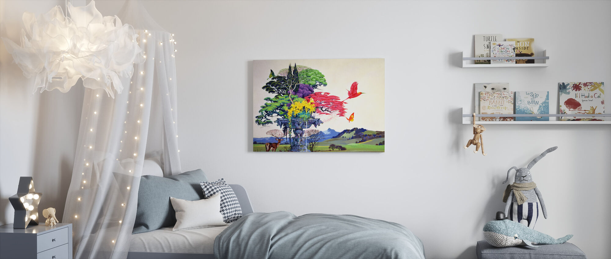 Rainbow Tree - Canvas print - Kids Room