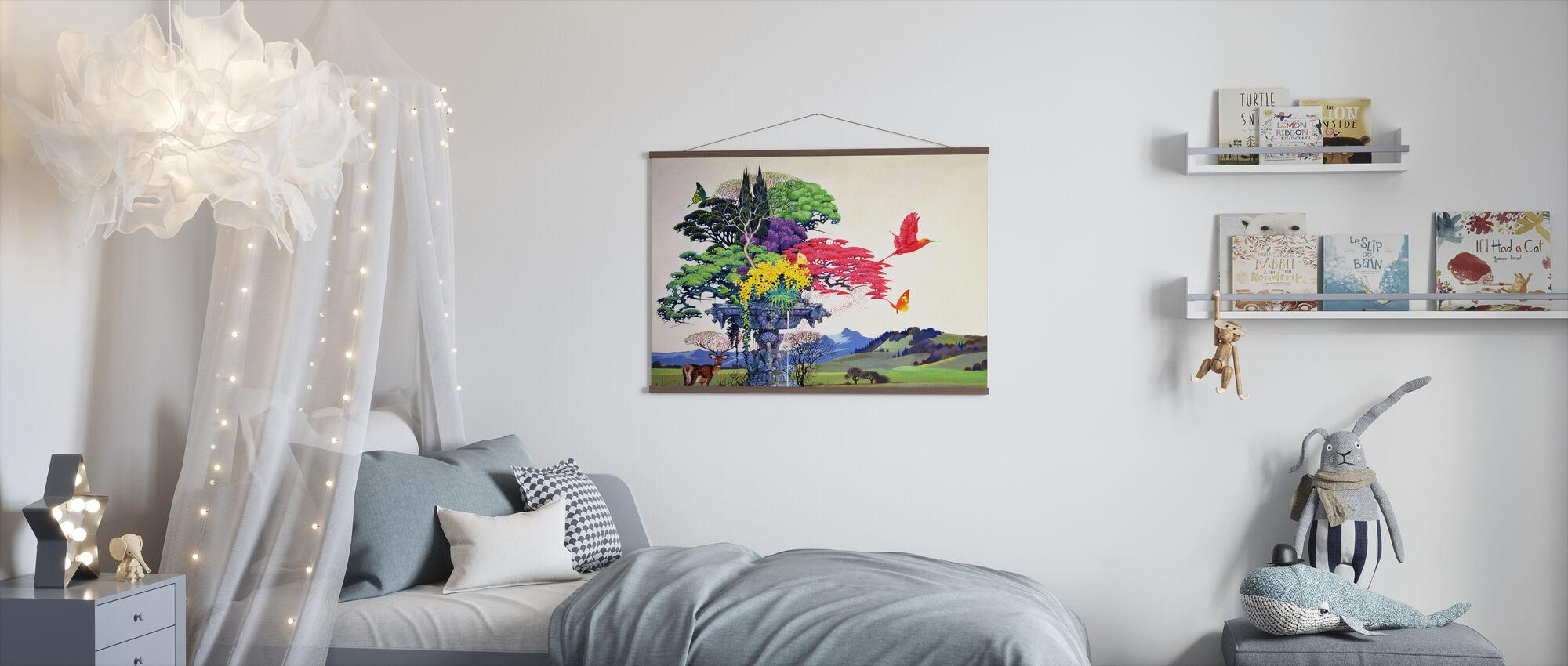 Regenboog Boom - Poster - Kinderkamer