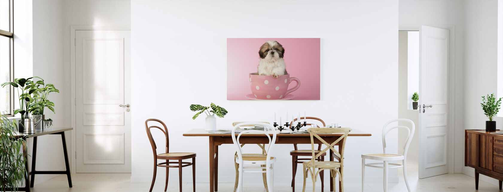 Dog in Cup - Canvas print - Kitchen