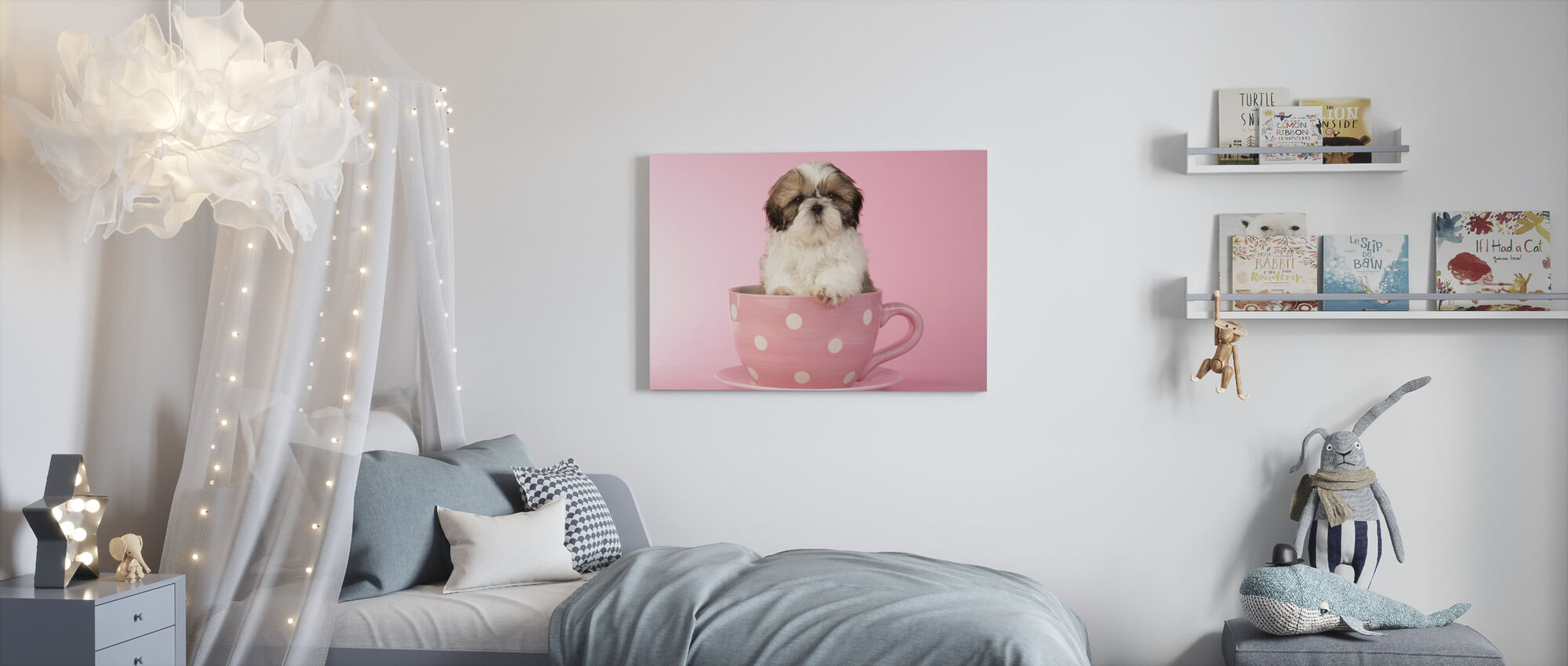 Dog in Cup - Canvas print - Kids Room