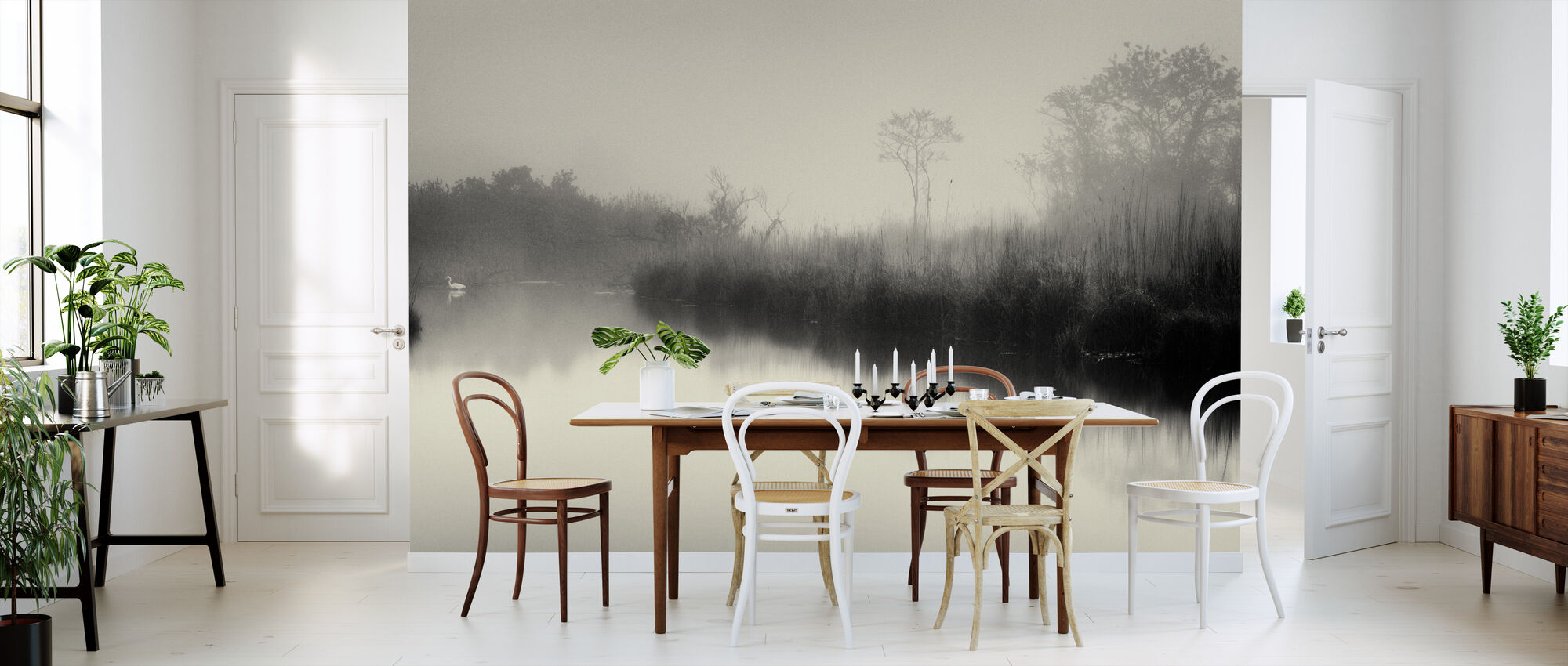 Lake and Trees - Wallpaper - Kitchen