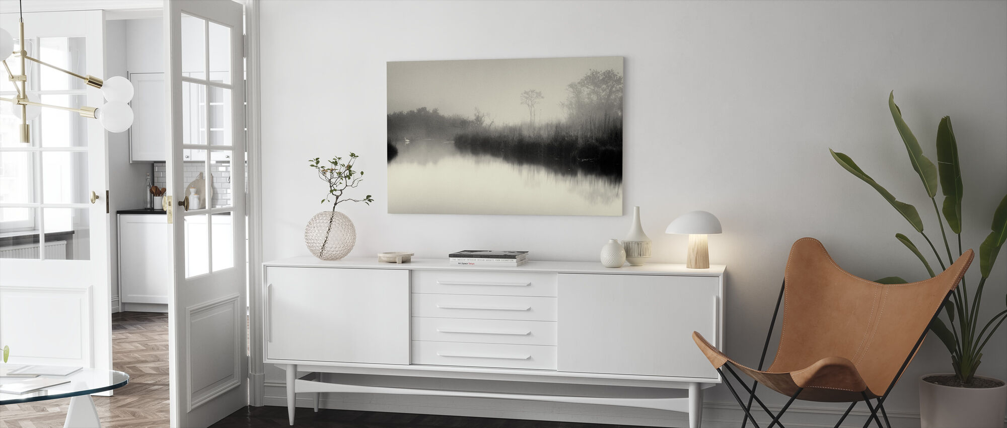 Lake and Trees - Canvas print - Living Room