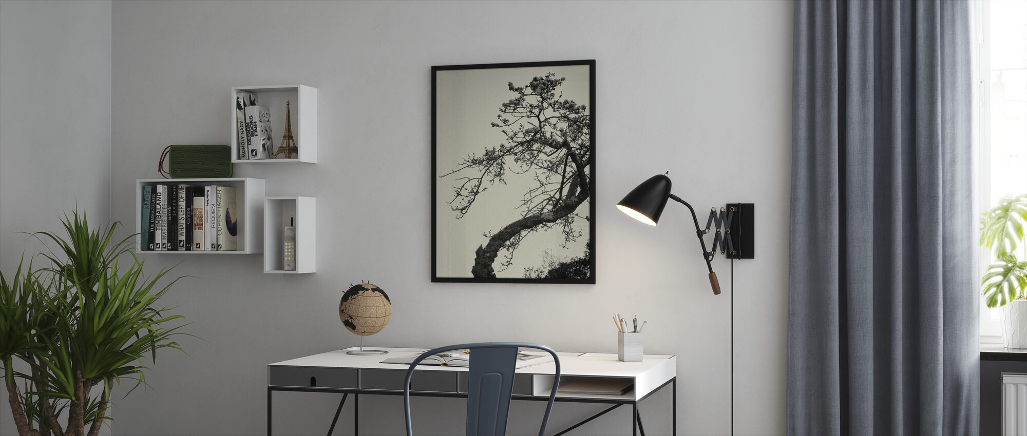 Winter Plum - Framed print - Office