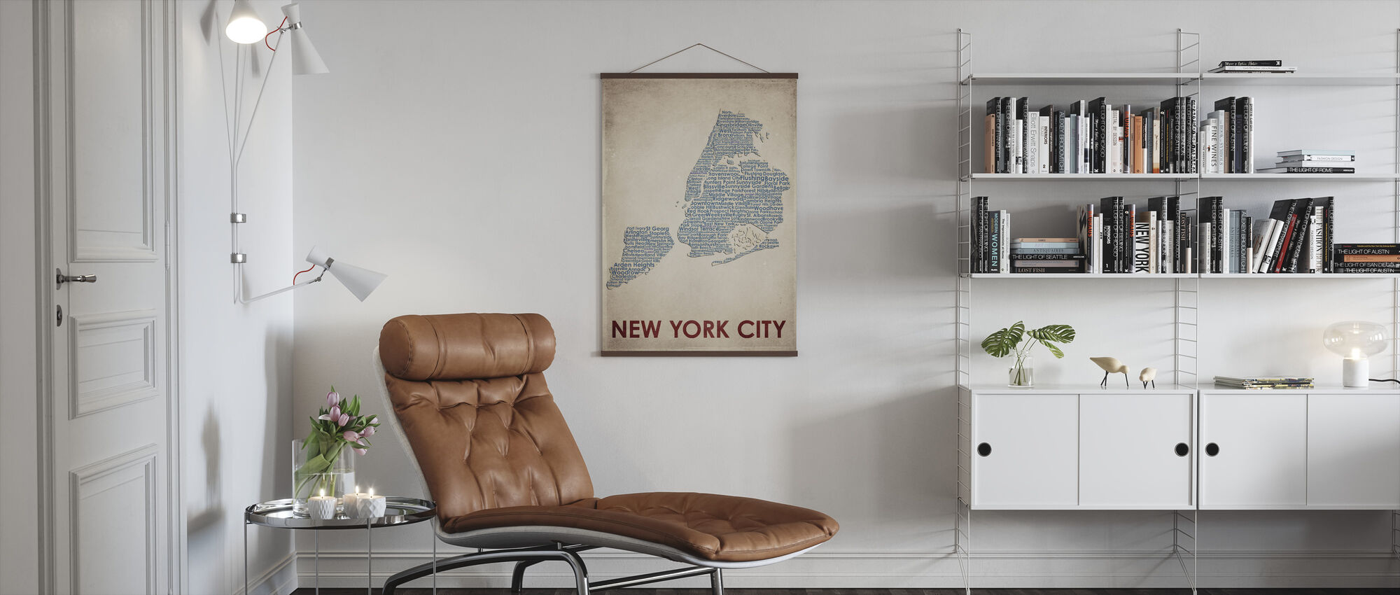 New York City Map - Poster - Living Room