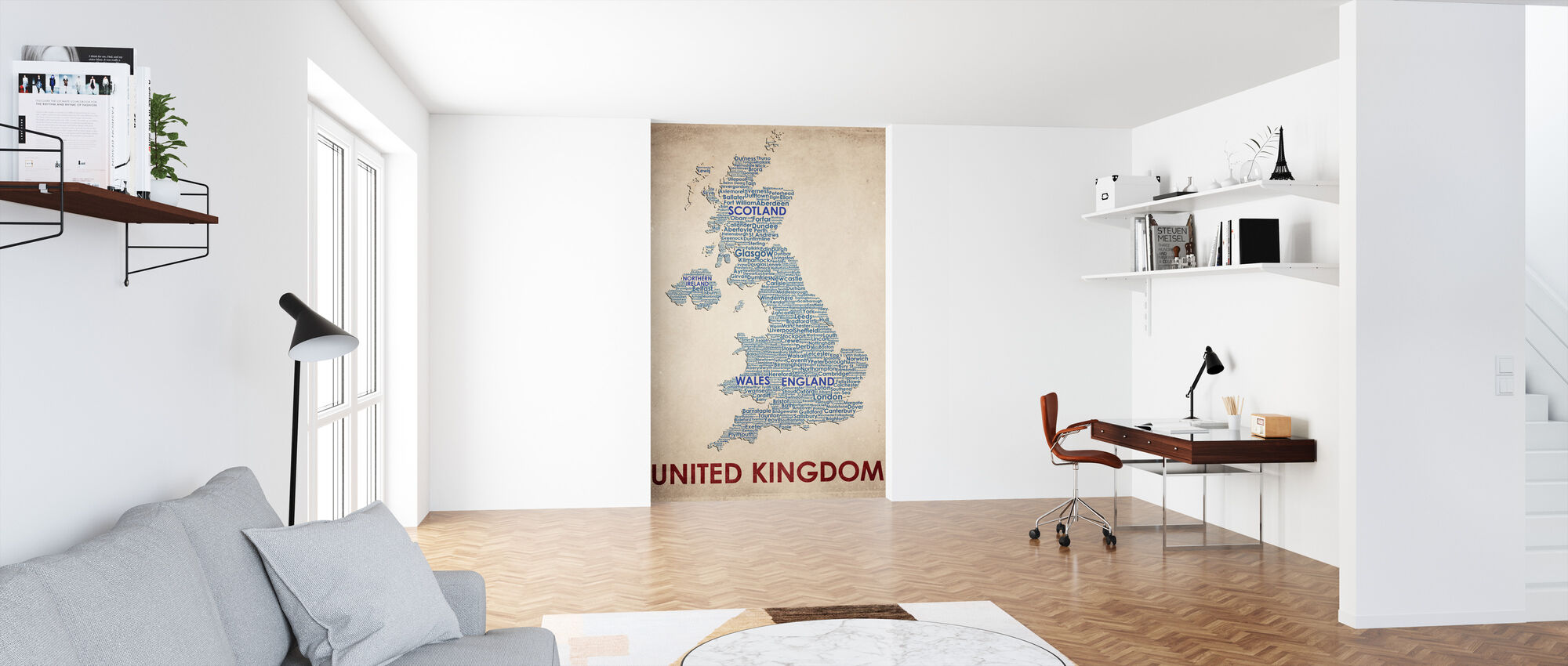 Storbritannien Kort - Tapet - Kontor