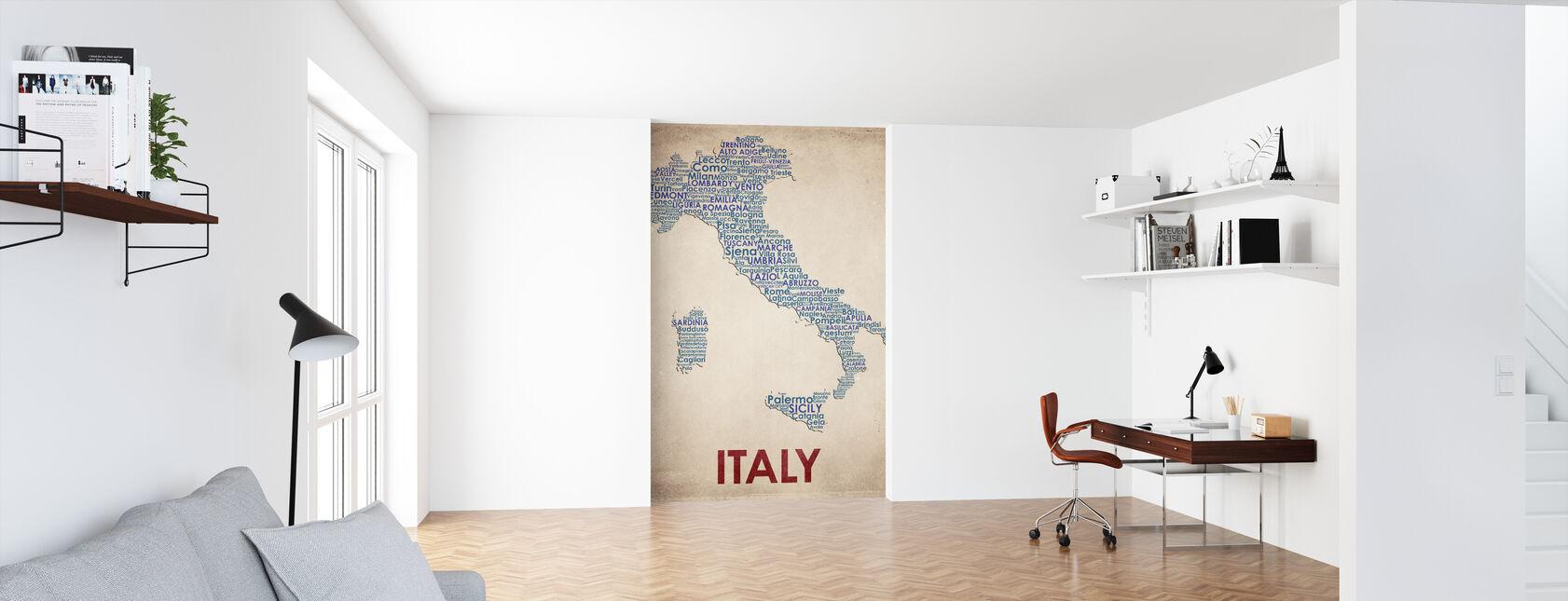 Italië Kaart - Behang - Kantoor
