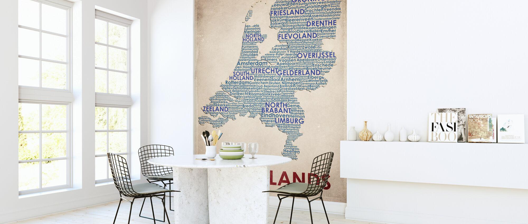 Nederland Kaart - Behang - Keuken