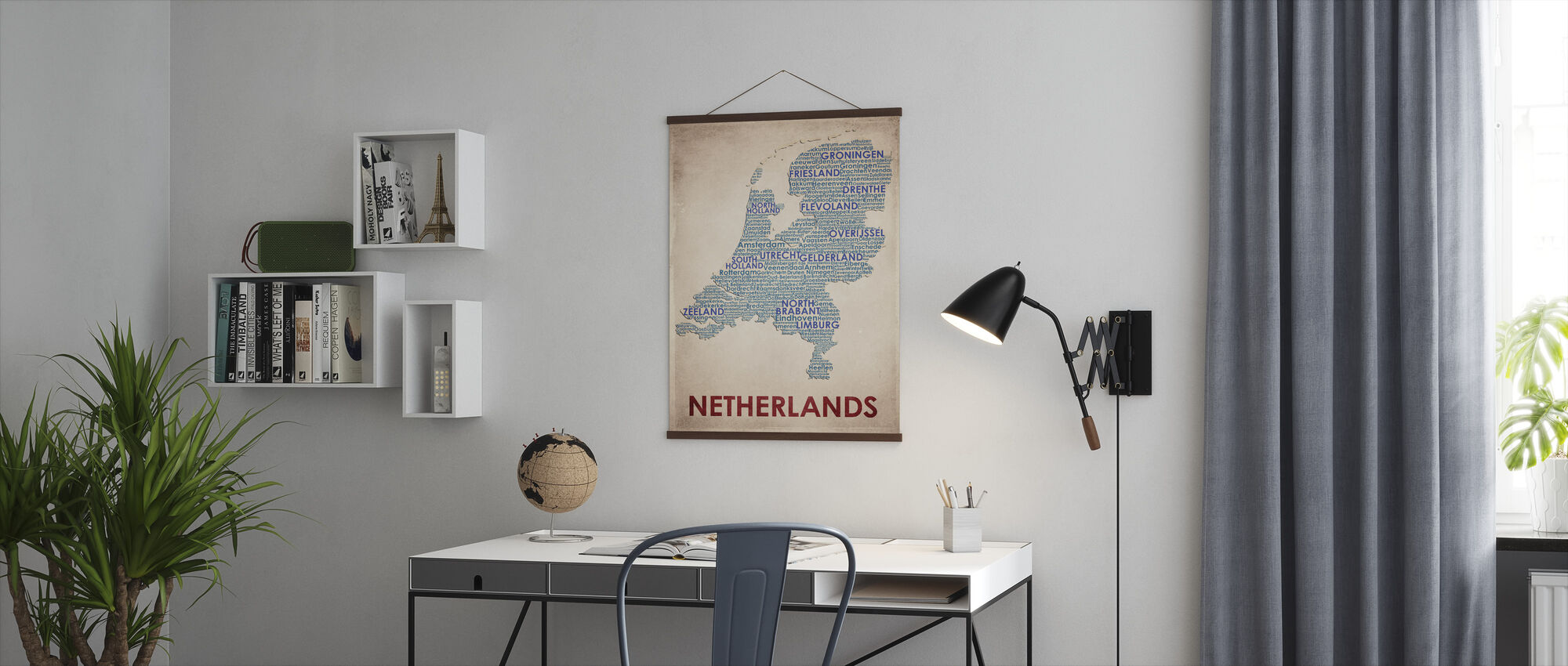 The Netherlands Map - Poster - Office