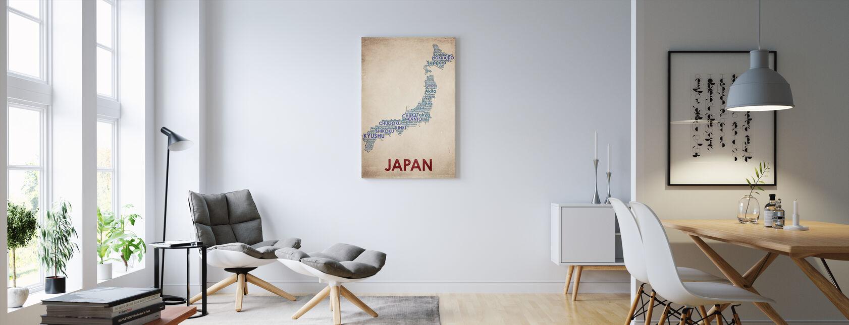 Japon Carte - Impression sur toile - Salle à manger