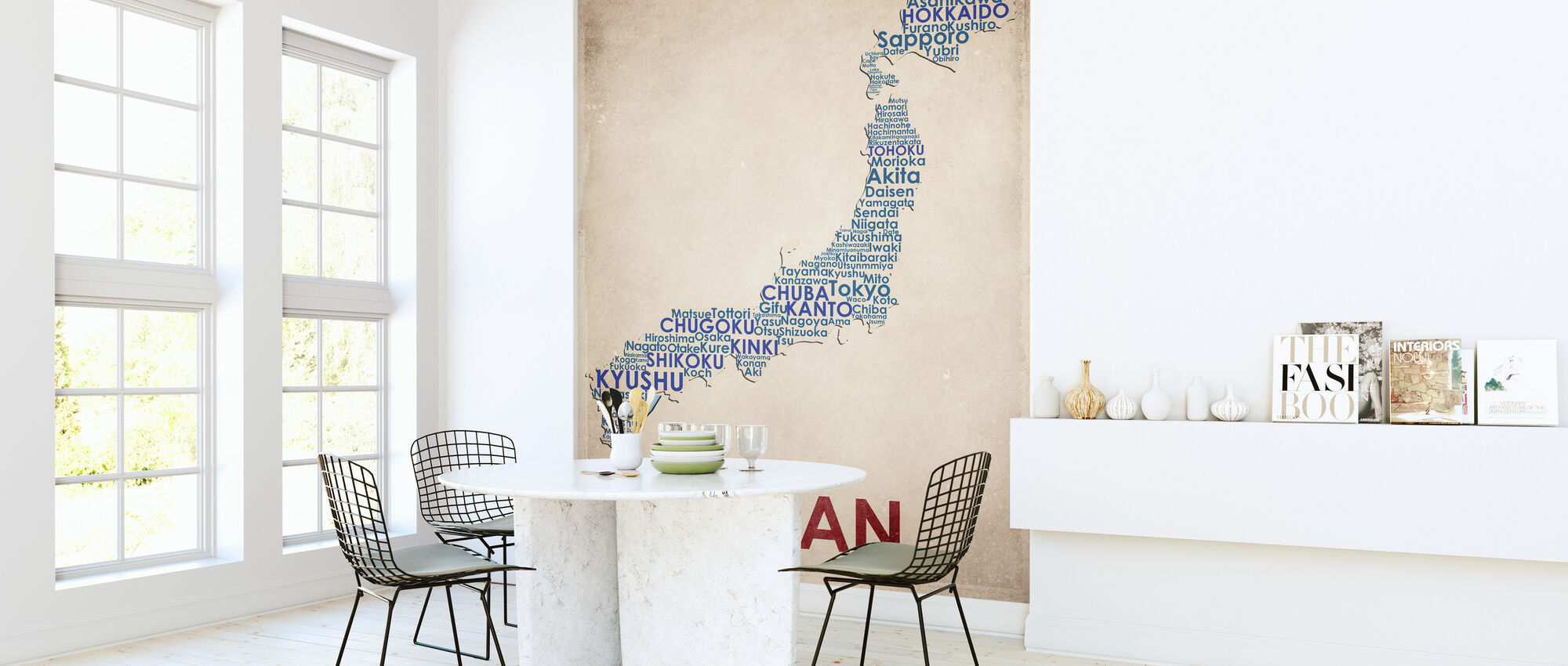 Japan Map - Wallpaper - Kitchen