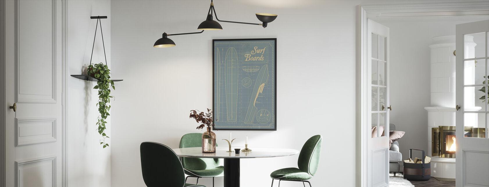Surf Boards - Framed print - Kitchen