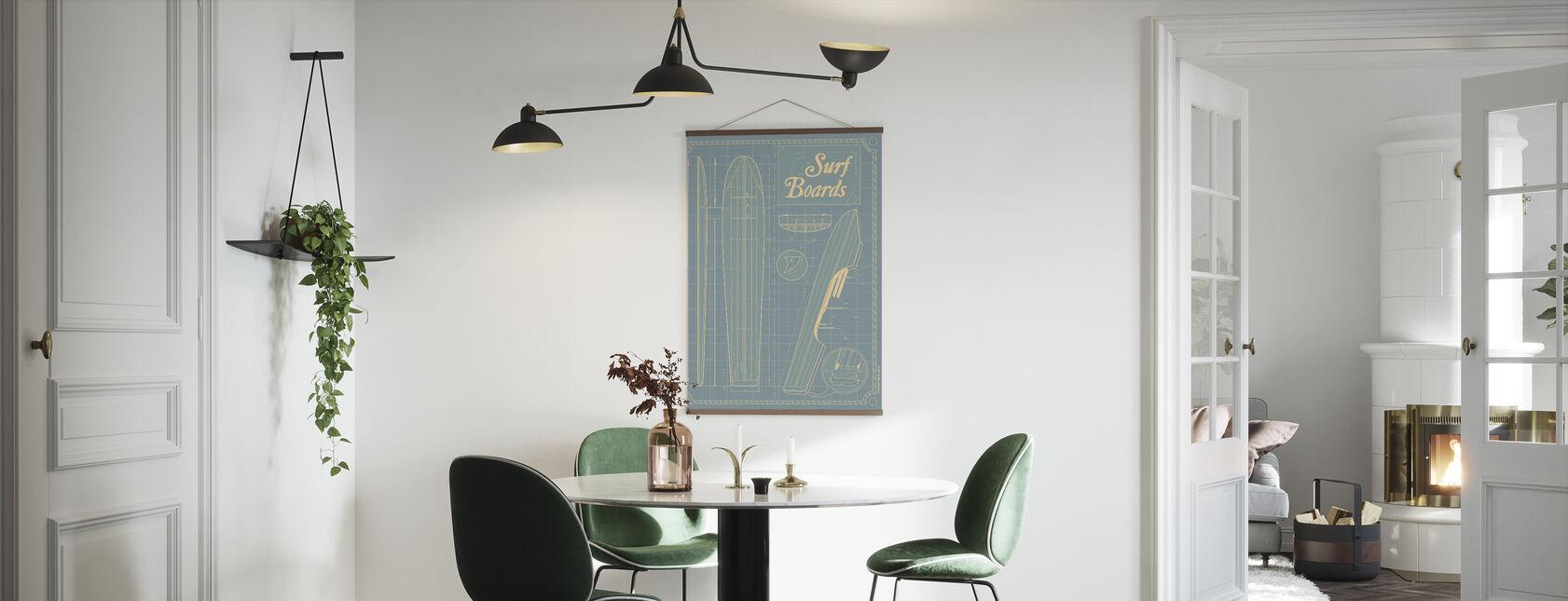 Surf Boards - Poster - Kitchen