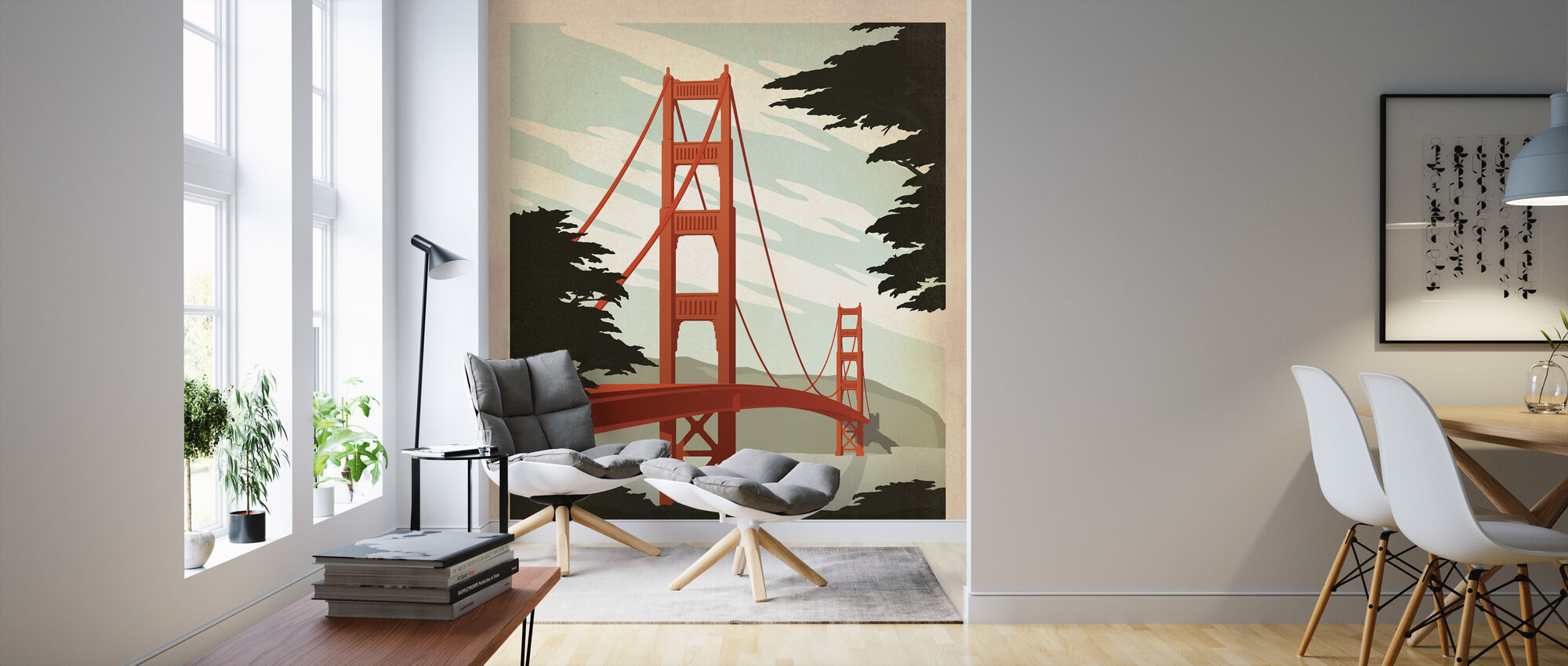 San Francisco - Wallpaper - Living Room