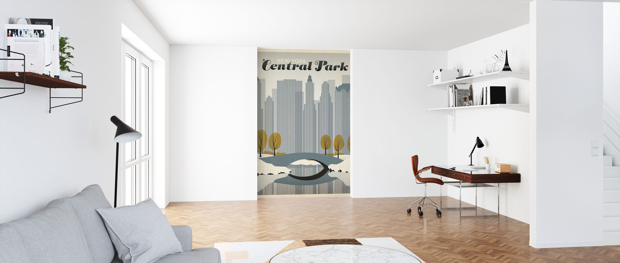 New York - Papier peint - Bureau