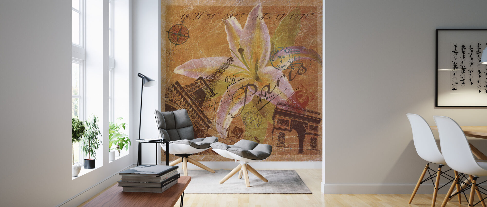 Paris Collage - Wallpaper - Living Room