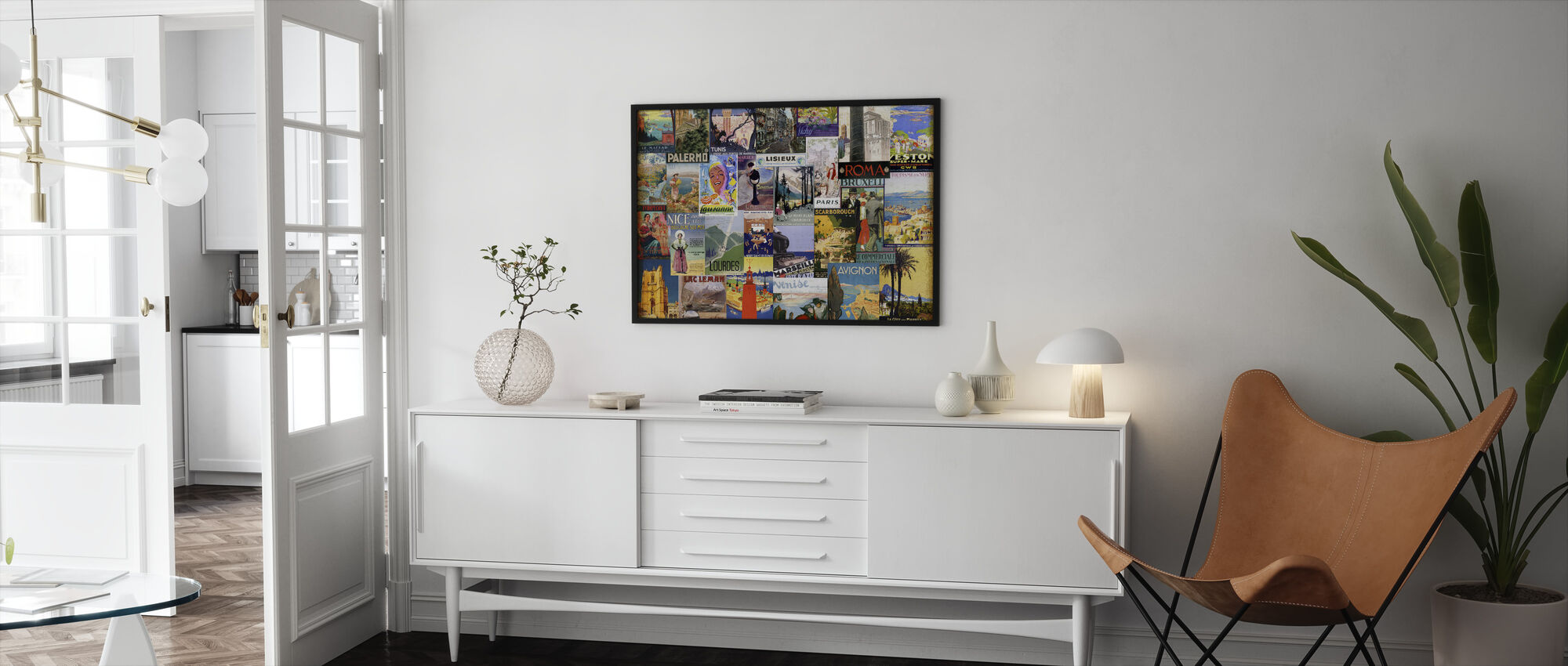 European Cities Collage - Framed print - Living Room