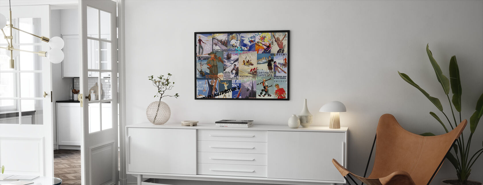Skidorter Collage - Inramad tavla - Vardagsrum