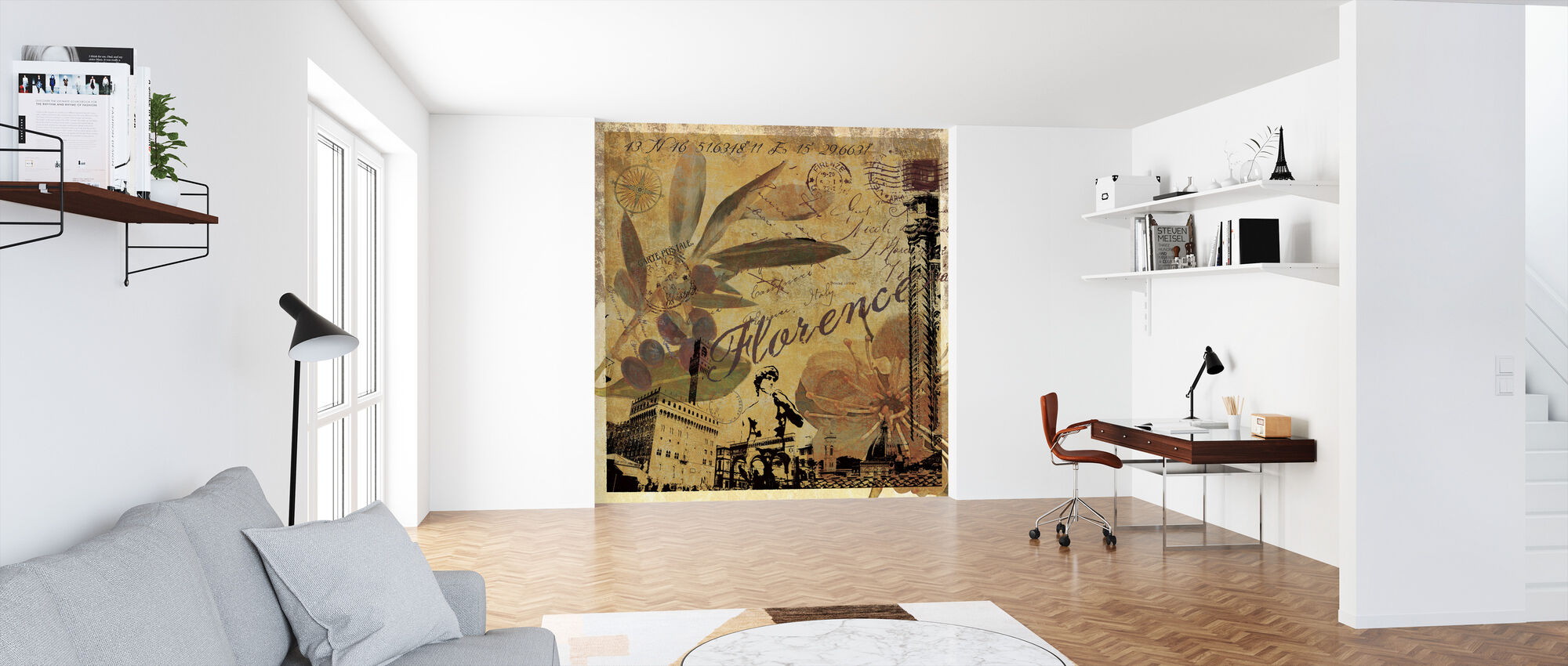 Florence Collage - Wallpaper - Office