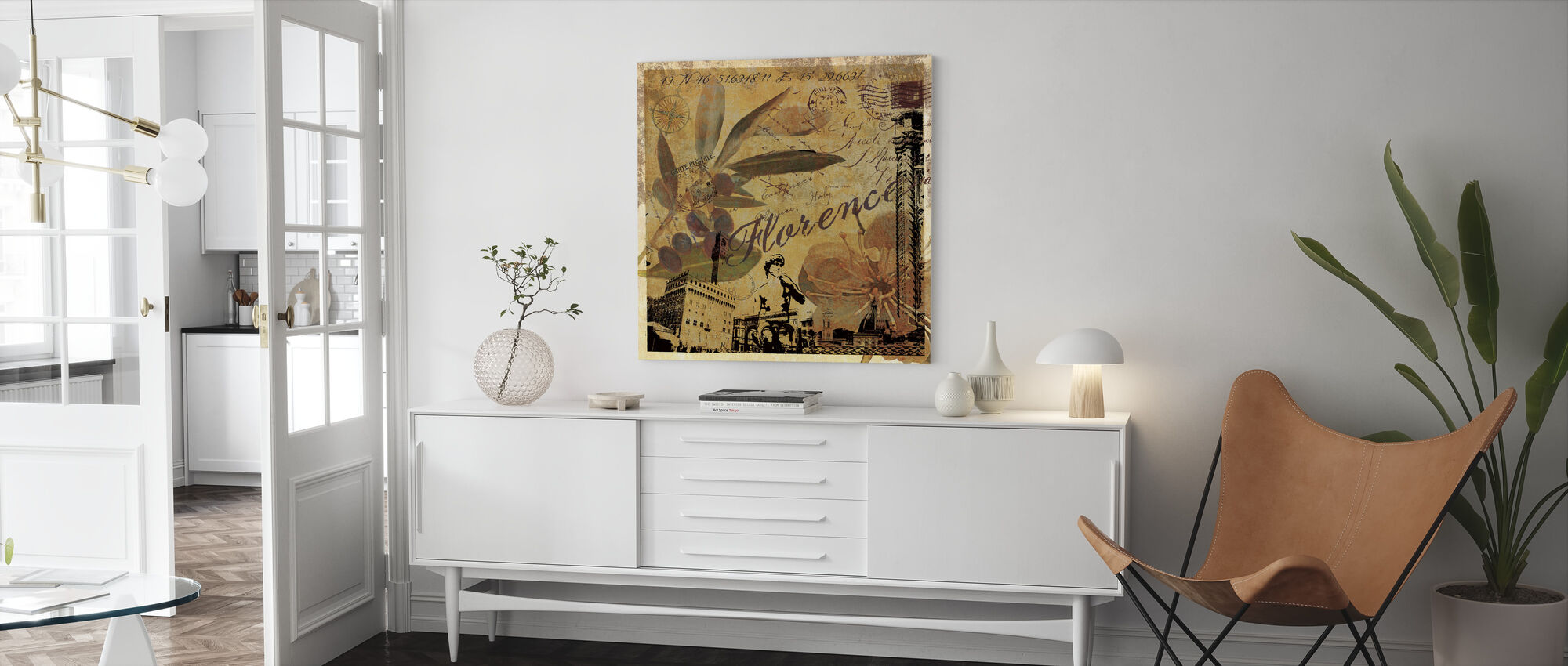 Florence Collage - Canvas print - Living Room