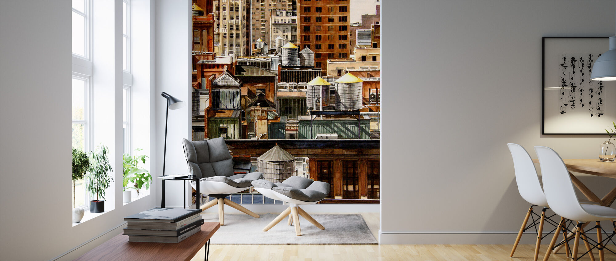 New York Rooftops - Wallpaper - Living Room